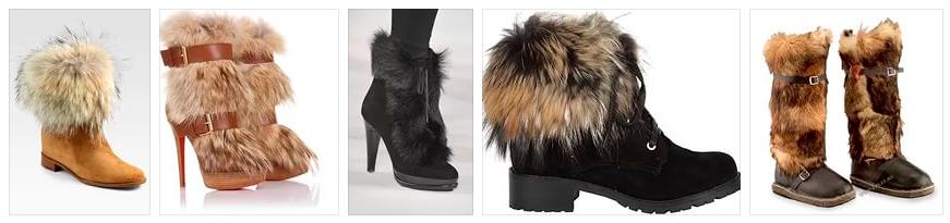 Модная обувь с мехом