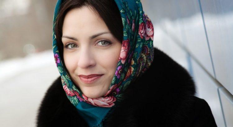 платок с норковой шубой фото