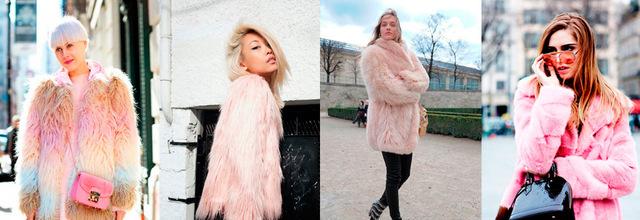 Розовая шуба – смелый креатив